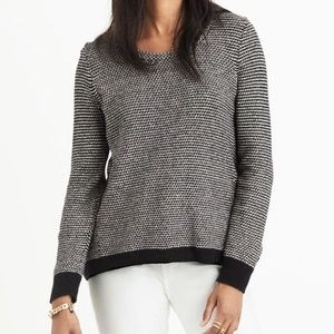 Madewell Riverside Pullover Sweater in Dotweave XS